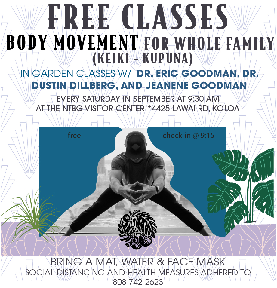 Flyer for out free body movement classes