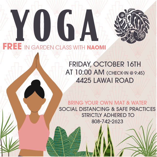 Flyer for free yoga on October 16