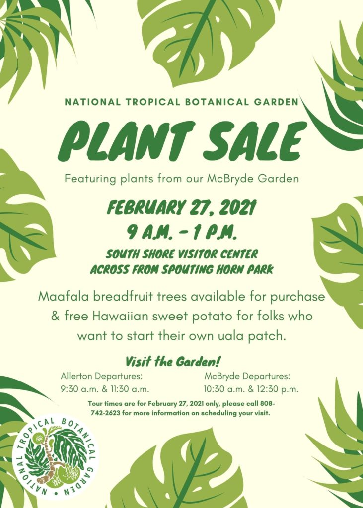 plant sale on February 27