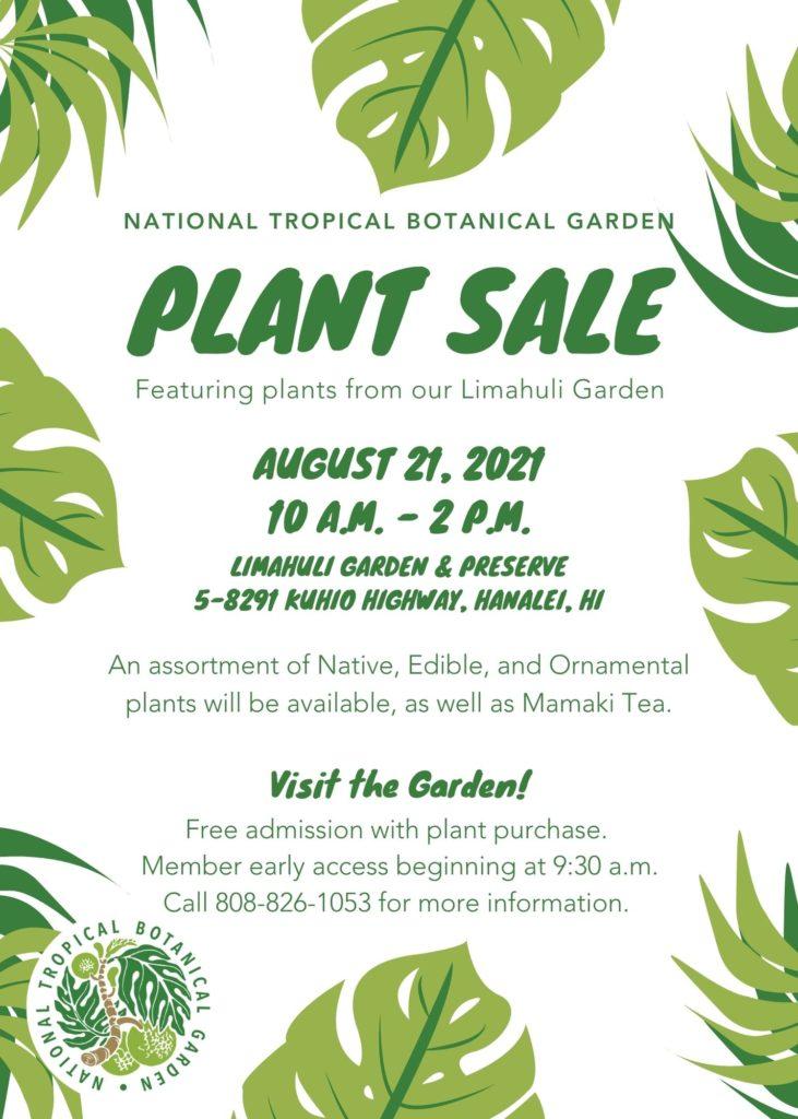 Plant sale August 21